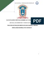 Evolución de Derecho Ecológico Mundial y Peruano