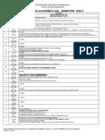 Calendario académico `FIUCV´ - Sem.°10 (Per.2005-3)