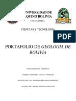 Portafololio Geologia de Bolivia