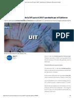 Conoce El Nuevo Valor de La UIT Para El 2017, Aprobado Por El Gobierno _ Economía _ Peru21