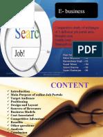 comparision on three job portal sites