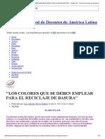 _los Colores Que Se Deben Emplear Para El Reciclaje de Basura_ - Reddolac - Red de Docentes de América Latina y Del Caribe
