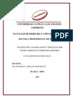 Hubert - Sustitución, Acumulación y Denuncia Por Internamiento en Derechos Mineros - Turnitin