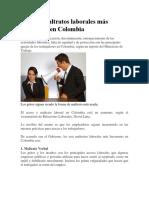 Los Seis Maltratos Laborales Más Frecuentes en Colombia