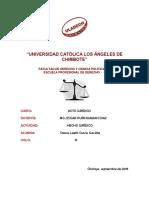 Actividad 1- Hecho Juridico