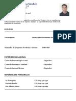 CV plantilla