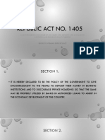 Secrecy of Bank Deposits Act