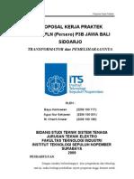 Proposal kerja praktek teknik elektro