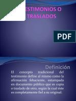 TESTIMONIOS O TRASLADOS.pptx