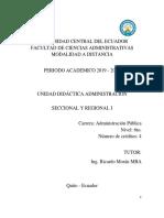 Didáctica Adm. Sec. y Reg. I 2019 - 2020