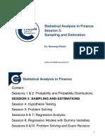 sampling and estimation
