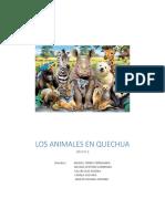 Los Animales en Quechua Español