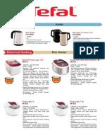 Tefal Appliances Catalog