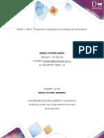 Est.daniEL CATAÑO GARCIA-Unidad 2 Paso 3 - Comprender La Importancia en El Manejo de La Información.