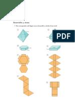 Matematicas Resueltos (Soluciones) Figuras en el Espacio 3º ESO 1ª Parte