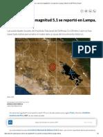 Puno_ Sismo de Magnitud 5,1 Se Reportó en Lampa, Informó El IGP Perú _ Peru21