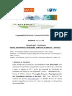 Edital Capes Brafitec - 2017 - Eng Qumica