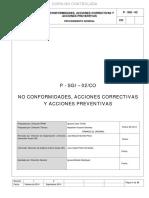 P-SGI-02 CO No Conformidades, Acciones Correctivas y Acciones Preventivas Rev 02