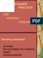 Evidence-Based Practice and Nursing Research
