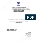 La Importancia de Las TIC Como Herramientas Para El Mejoramiento y Desarrollo de Los Procesos Administrativos - Equipo 2