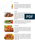 5 Macam Makanan Daerah
