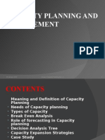 Capacity Planning & Management