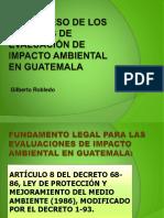 El Proceso de Los Estudios de Impacto Ambiental Gr
