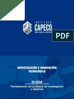 CAPECO III CICLO Sesión 3 Planteamiento - Objetivos-2019-II.pptx
