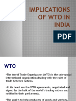 Implications of Wto in India