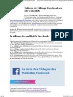 ▶ Les 1000 Options de Ciblage Facebook en Résumé [Guide Complet]