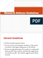 Thesis Defense Guidelines