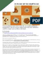 Nano Particles in Air Pollution BBC Nov 2019