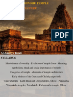 Evolution of Hindhu Temple Architecture