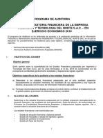 Prog. de Auditoria Itn Sac