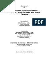 Consumer Behavior Final Proposal