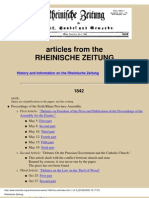 Marx Rheinishe Zeitung