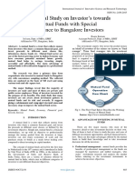 Behavioral Study on Investor's towards  Mutual Funds with Special  Reference to Bangalore Investors