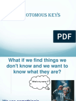 Dichotomous Key Notes