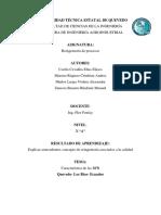 Característica de Las BPR