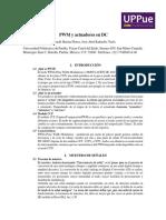Modulo PWM y Actuadores en DC