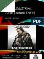 Pre Industrial Age