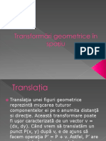 Transformări Geometrice În Spațiu