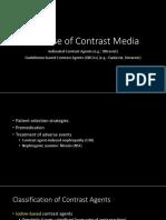 Safe Use of Contrast Media