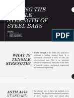 Testing the Tensile Strength of Steel Bars