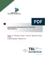 APEC Sustainable Development Tourism Destinations
