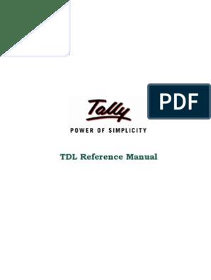 tdl | Variable (Computer Science) | Parameter (Computer Programming)