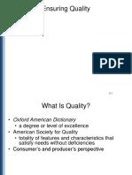 Ensuring Quality