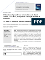 Delineation of Groundwater Potential Zones in Theni District Tamil Nadu Using Remote Sensing Gis and Mif Techniques