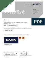 Zertifikat KPP Sales Point Zscharnagk 16 17