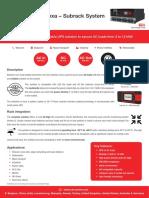 CET Modular UPS Datasheet Flexa Subrack System en v1.3